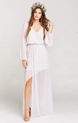 Show Me Your Mumu Jocelyn Maxi Dress ~ Light Lavender Chiffon