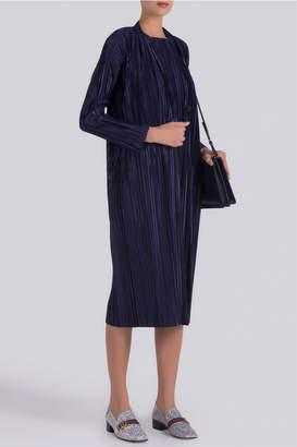 Pleats Please Issey Miyake Kira Kira Long Coat