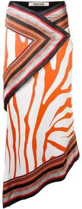 Roberto Cavalli printed panelled skirt