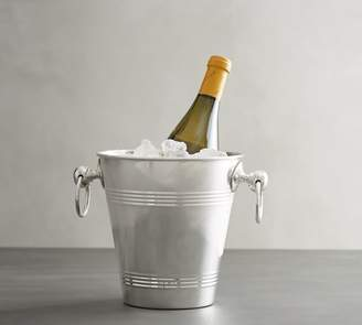 Pottery Barn Polished Silver Ice Bucket