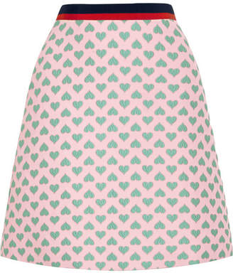 Gucci For Net A Porter Jacquard Mini Skirt