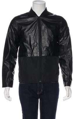 Alexander Wang Leather-Trimmed Zip Jacket