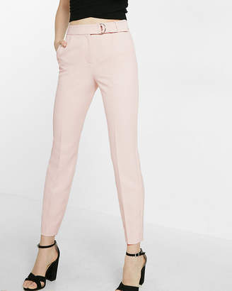 Express Belted Cropped Slim Ankle Pant