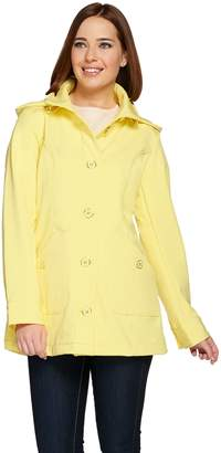 Isaac Mizrahi Live! Soft Shell Jacket w/ Detachable Hood