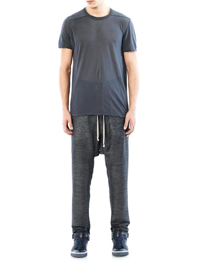 Rick Owens Drawstring linen and silk-blend trousers