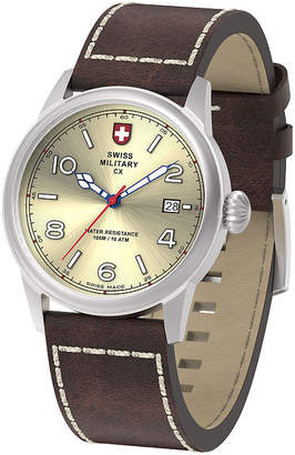 Swiss Military BY CHARMEX By Charmex Vintage Mens Brown Strap Watch-78335_8_D