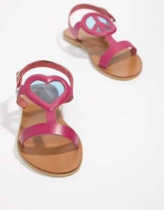 Love Moschino Heart Flat Sandals