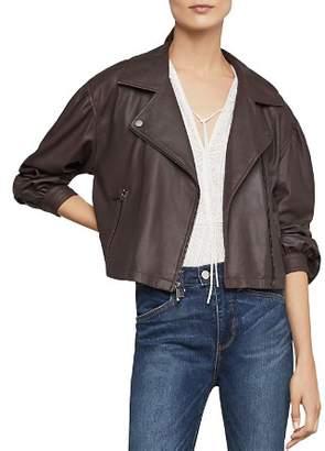 BCBGMAXAZRIA Melody Leather Biker Jacket