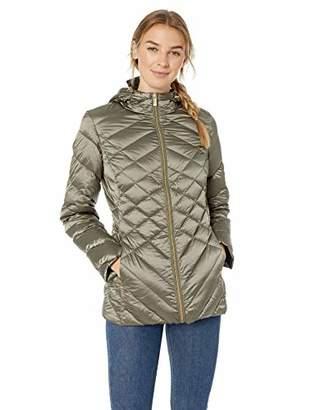 Ellen Tracy Women's Hooded Down Jacket,M