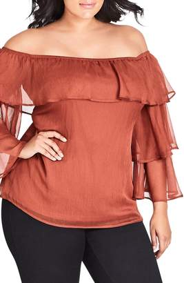City Chic Seductress Off the Shoulder Top
