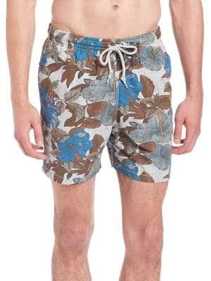 Saks Fifth Avenue Hibiscus Print Swim Trunks