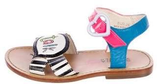 Sophia Webster Girls' Leather Round-Toe Sandals