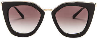 Prada Square Sunglasses in Black | FWRD
