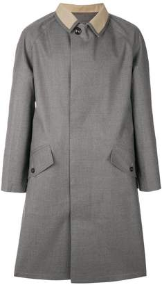 Maison Margiela contrast-collar fitted coat