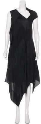 Maison Margiela Asymmetrical Midi Dress w/ Tags Black Asymmetrical Midi Dress w/ Tags
