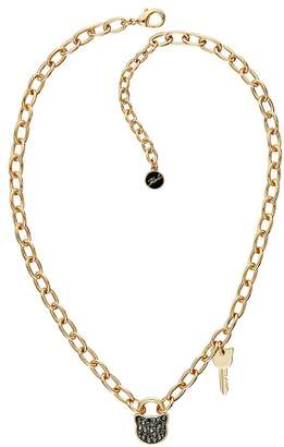 "Karl Lagerfeld Paris Small Choupette Lock & Key Necklace, 16""-18"""