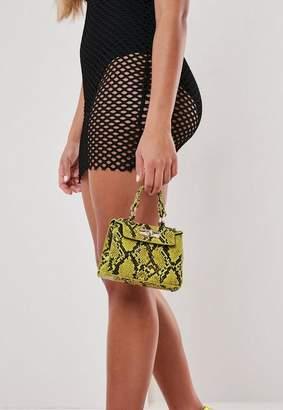 Missguided Snake Effect Mini Handbag