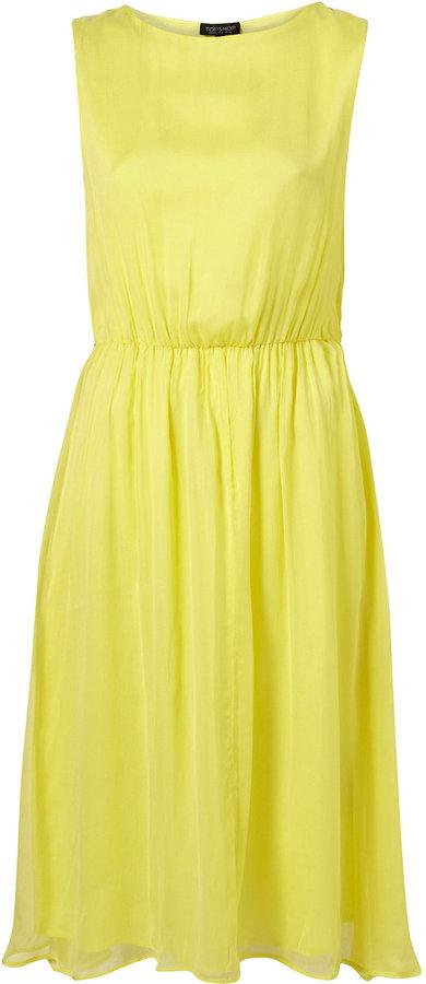Lemon Midi Skirted Dress