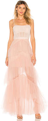 BCBGMAXAZRIA Oly Long Tulle Gown
