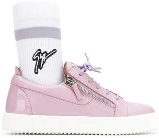 Giuseppe Zanotti Design logo sock flatform sneakers