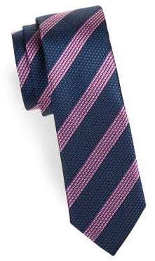 HUGO BOSS Striped Textured Silk Tie