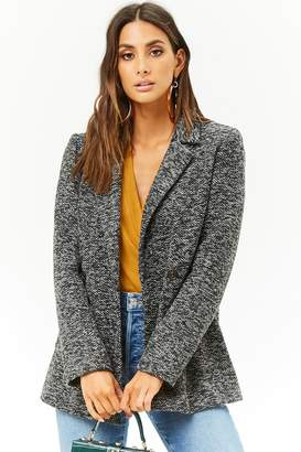 Forever 21 Double-Breasted Marled Blazer