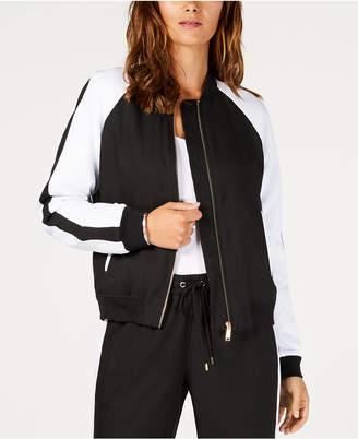 Michael Kors Zip-Front MKGO Bomber Jacket