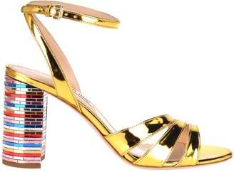 4732907238e Gold Disco Heels - ShopStyle