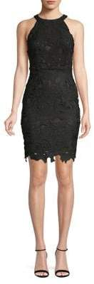 Missguided Halter Lace Sheath Dress