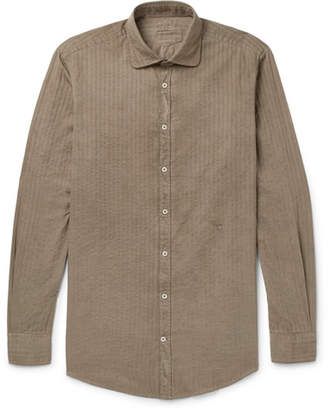 Massimo Alba Canary Striped Cotton Shirt