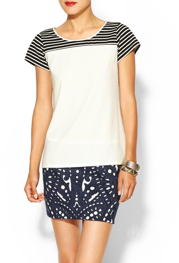 Juicy Couture C.Luce Stripe Color Block Blouse
