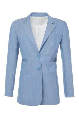 Tibi Serge Suiting Cut Out Blazer