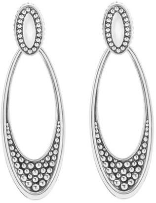 Women's Lagos 'Signature Caviar' Omega Drop Earrings $295 thestylecure.com