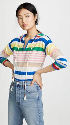 Mira Mikati Striped Hooded Sweater