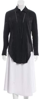 Rag & Bone Silk Asymmetrical Blouse