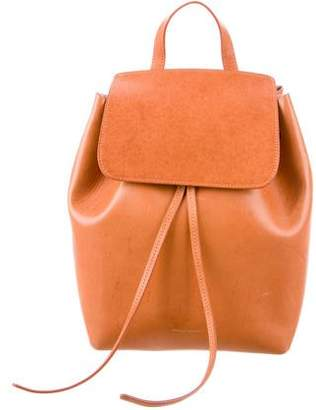 Mansur Gavriel Drawstring Leather Backpack