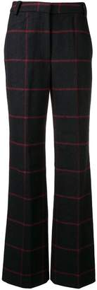 Self-Portrait check print trousers