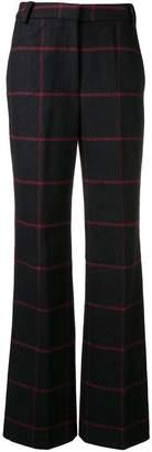 Self-Portrait check print trousers