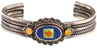 925 Sterling Silver with Lapis Lazuli and Gemstone Cuff Bracelet