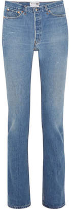 RE/DONE Cindy Crawford The Crawford High-rise Straight-leg Jeans - Mid denim