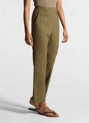 St. John Stretch Linen Twill Cropped Pant