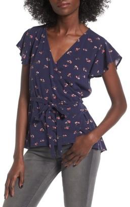 Women's O'Neill Sarah Print Wrap Top $44 thestylecure.com