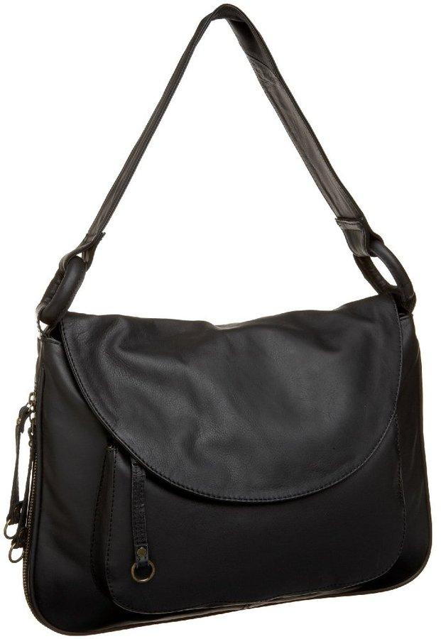 Latico Nappa Solid Front Flap E/W Shoulder Bag