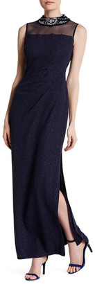 Marina Sleeveless Glitter Gown $189 thestylecure.com