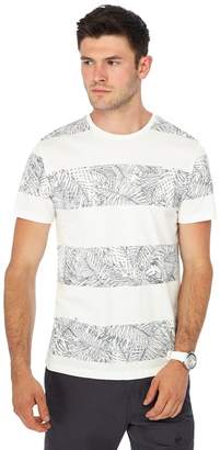 Red Herring Big And Tall White Palm Leaf Striped T-Shirt