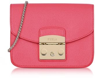 Furla Rose Leather Metropolis Mini Crossbody Bag $295 thestylecure.com