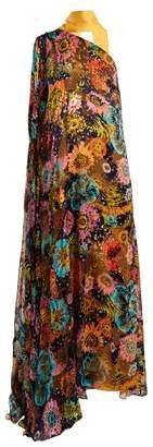 Osman Lula Floral Print One Shoulder Dress - Womens - Multi