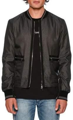 Dolce & Gabbana Jacquard Zip-Front Bomber Jacket