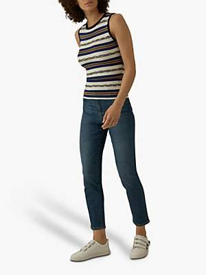Karen Millen Straight Leg Jeans, Blue