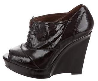 Marni Peep-Toe Wedge Booties